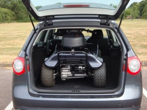 Electric Golf Buggy In Boot