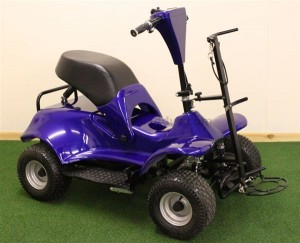 Electric Golf Buggy In Blue
