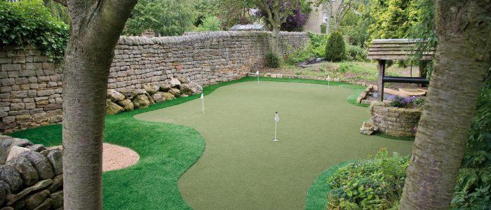 Home Garden Artificial Putting Green Install