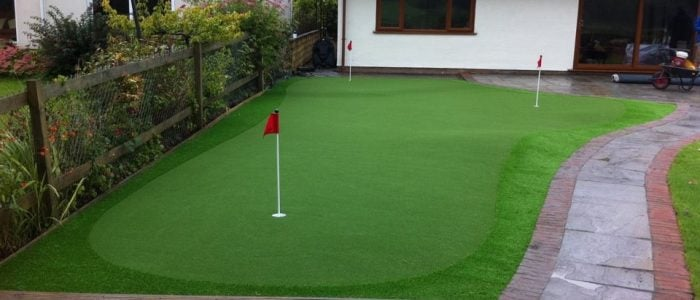 Home garden putting green 2